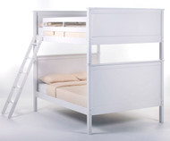 School House Casey Full over Full Bunk Bed White | NE Kids | NE-7025BUNK