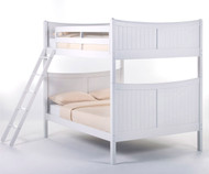 School House Taylor Full over Full Bunk Bed White | NE Kids | NE-7035BUNK