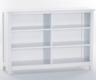 School House Wide Bookcase White | NE Kids Furniture | NE-7568