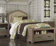 Everglades Bailey Upholstered Bed Twin Size Driftwood | NE Kids Furniture | NE10010