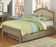Everglades Bailey Upholstered Bed Full Size with Trundle Driftwood | NE Kids Furniture | NE10015X