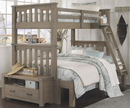 Everglades Harper Twin over Full Size Bunk Bed Driftwood | NE Kids Furniture | NE10055