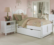 Lakehouse Payton Twin Bed with Trundle White | NE Kids | NE1010-1570