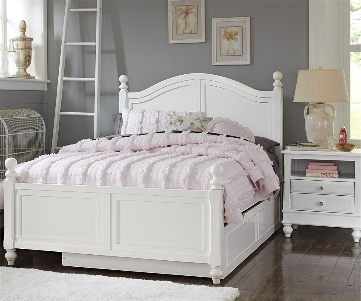 1015 and 1570 payton full bed white finish with trundle lakehouse collection ne kids furniture. Black Bedroom Furniture Sets. Home Design Ideas