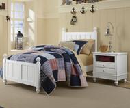 Lakehouse Kennedy Twin Bed White   NE Kids   NE1020