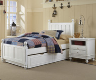 Lakehouse Kennedy Twin Bed with Trundle White | NE Kids | NE1020-1570