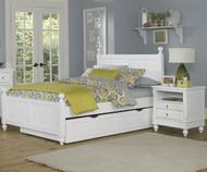 Lakehouse Kennedy Full Bed with Trundle White   NE Kids   NE1025-1570