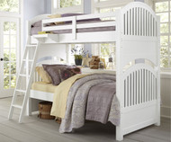 Lakehouse Adrian Bunk Bed Twin Over Twin White   NE Kids   NE1031