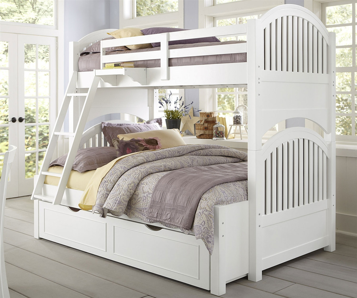 Lakehouse Adrian Bunk Bed Twin Over Full White Ne Kids Ne1035