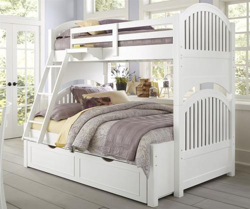 lakehouse adrian bunk bed twin over full white ne kids ne1035