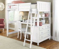 CLEARANCE Lakehouse Loft Bed with Desk White |  | NE1040-Desk-sd