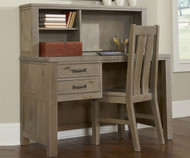 CLEARANCE Highlands Student Desk Driftwood with Chair      NE10540-SD