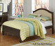 Everglades Bailey Upholstered Bed Twin Size Espresso | NE Kids Furniture | NE11010