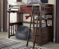 Everglades Loft Bed Twin Size Espresso | NE Kids Furniture | NE11070
