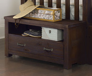 Everglades Dressing Bench Espresso | NE Kids Furniture | NE11570