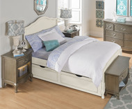 Kensington Charlotte Panel Bed Full Size with Trundle Antique White | NE Kids Furniture | NE20015-20580
