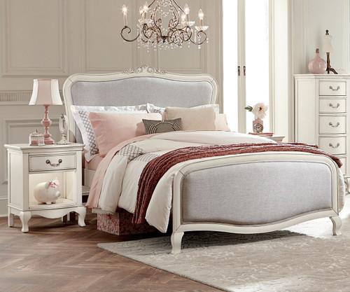Kensington Katherine Upholstered Bed Full Size Antique White | NE Kids  Furniture | NE20025