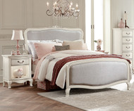 Kensington Katherine Upholstered Bed Full Size Antique White | NE Kids Furniture | NE20025