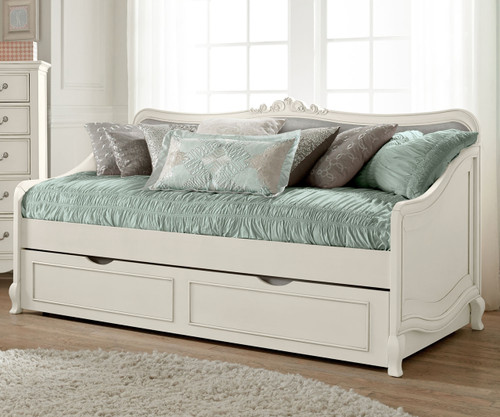 Kensington Elizabeth Daybed With Trundle Antique White | NE Kids Furniture  | NE20040 20580
