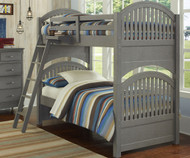 Lakehouse Adrian Bunk Bed Twin Over Twin Stone | NE Kids | NE2031