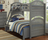 Lakehouse Adrian Bunk Bed Twin Over Full Stone | NE Kids | NE2035