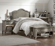 Kensington Charlotte Panel Bed Twin Size Antique Silver | NE Kids Furniture | NE30010