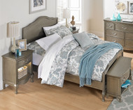 Kensington Charlotte Panel Bed Full Size Antique Silver | NE Kids Furniture | NE30015