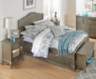 Kensington Charlotte Panel Bed Full Size with Trundle Antique Silver | NE Kids Furniture | NE30015-30580