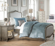 Kensington Katherine Upholstered Bed Twin Size Antique Silver | NE Kids Furniture | NE30020