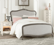 Kensington Katherine Upholstered Bed Full Size Antique Silver | NE Kids Furniture | NE30025