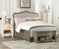 Kensington Katherine Upholstered Bed Full Size with Trundle Antique Silver | NE Kids Furniture | NE30025-30580