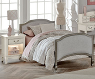 Kensington Victoria Upholstered Bed Twin Size Antique Silver | NE Kids Furniture | NE30030