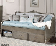 Kensington Elizabeth Daybed Antique Silver | NE Kids Furniture | NE30040