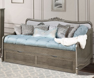 Kensington Elizabeth Daybed with Trundle Antique Silver | NE Kids Furniture | NE30040-30580