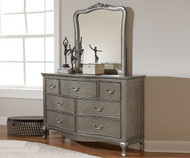 Kensington 7 Drawer Dresser Antique Silver | NE Kids Furniture | NE30500