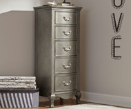 Kensington 5 Drawer Chest Antique Silver | NE Kids Furniture | NE30520