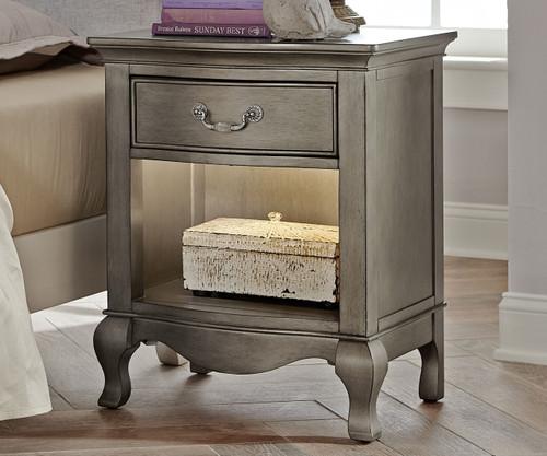 Kensington Nightstand Antique Silver   NE Kids Furniture   NE30530