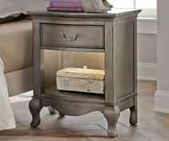 Kensington Nightstand Antique Silver | NE Kids Furniture | NE30530