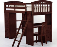 School House Loft Bed Cherry | NE Kids | NE4080-LOFT