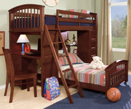 School House Student Loft Bed Cherry | NE Kids | NE4080-LWB