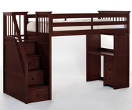 School House Stair Loft Bed Cherry | NE Kids | NE4090-XX