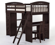 School House Loft Bed Chocolate Finish | NE Kids | NE5080-LOFT