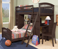 School House Student Loft Bed Chocolate | NE Kids | NE5080-LWB