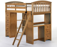 School House Loft Bed Pecan | NE Kids | NE6080-LOFT