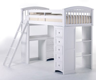 School House Loft Bed White | NE Kids | NE7080-LOFT
