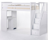 School House Stair Loft Bed White | NE Kids | NE7090-X