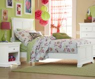 Walnut Street Devon Twin Panel Bed White | NE Kids | NE8020