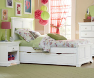 Walnut Street Devon Twin Panel Bed with Trundle White | NE Kids | NE8020-8560