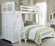 Walnut Street Twin over Full Locker Loft Bed White | NE Kids | NE8060-LWB