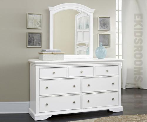 Walnut Street 7 Drawer Dresser White Ne Kids Furniture Ne8500